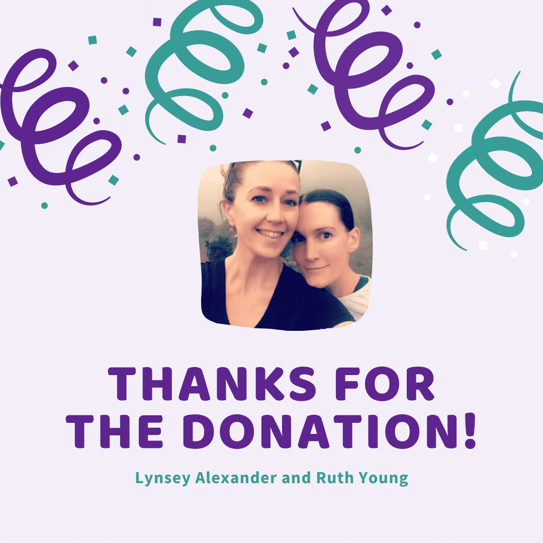 Lynsey Alexander and Ruth Young Donation